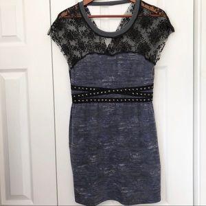 Buffalo David Bitton Blue Lace Dress M
